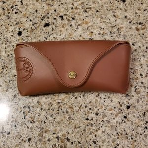 Ray Ban Brown Faux Leather Case - Pristine